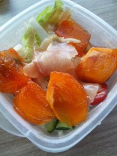 生ハム柿サラダ